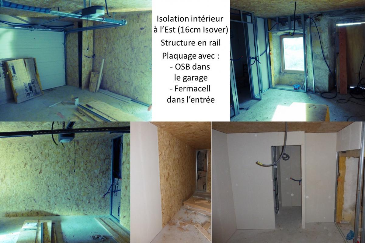 Sas D Entrée Interieur isolation intérieure et habillage du garage et du sas d'entrée